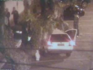 Garçom atropela ex-mulher e namorado (Foto: Divulgação / Centro de Operações Integradas/SJC)