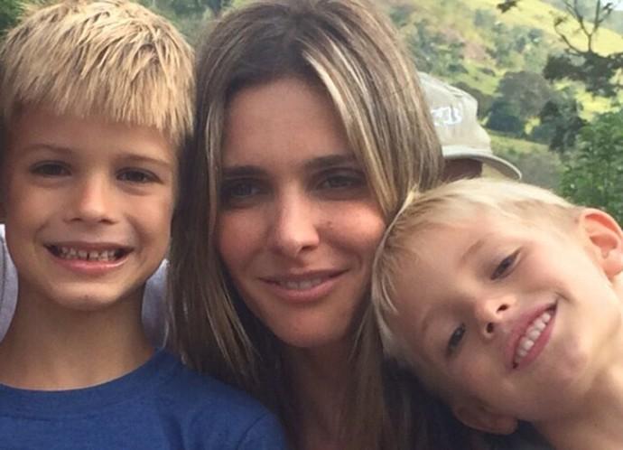 A apresentadora do 'SuperStar' é mãe de dois meninos de sete anos (Foto: Arquivo pessoal)