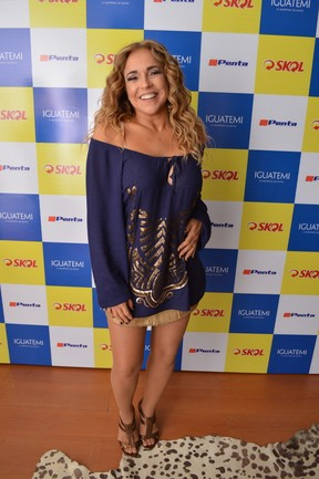 Daniela Mercury em show em Salvador, na Bahia (Foto: Felipe Souto Maior/ Ag. News)