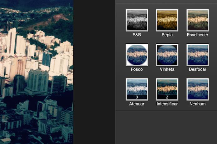 Inserindo filtros em fotos com o iPhoto do Mac OS X (Foto: Reprodução/Marvin Costa)