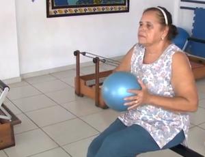 Dona Josefa idoso esporte (Foto: Reprodução/TV Gazeta)