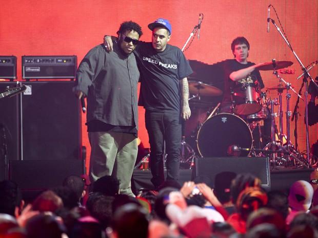 Marcelo D2 e BNegão em show do Planet Hemp (Foto: Marcos Issa/Argosfoto)