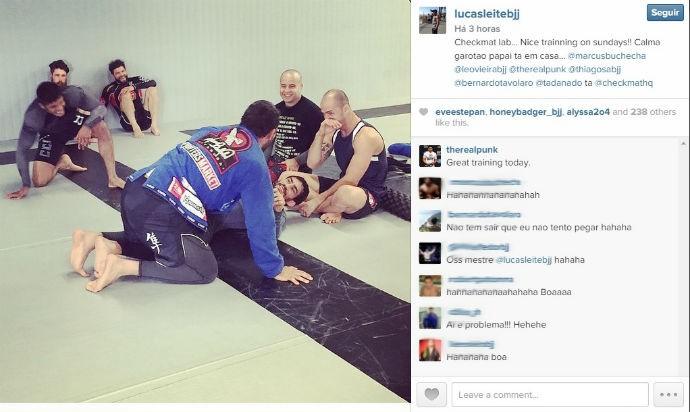 Josh Thomson em treino de jiu-jítsu