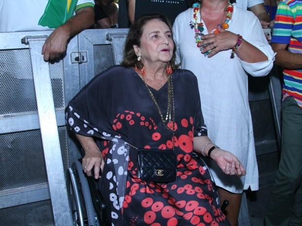 Lucinha Araújo em show na Zona Portuária do Rio (Foto: Anderson Borde/ Ag. News)