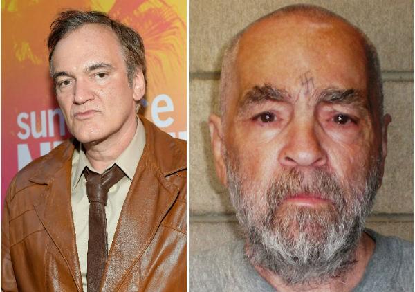 O cineasta Quentin Tarantino e o assassino Charles Manson (Foto: Getty Images)
