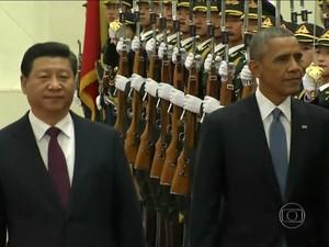 EUA e China fazem acordo sobre clima (Rede Globo)