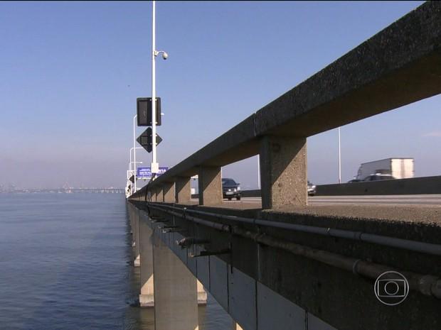 Ponte Rio-Niterói (GloboNews) (Foto: Reprodução GloboNews)