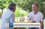 """Cléber Machado entrevista Mano Menezes no quadro """"1 x 1"""", do Seleção SporTV"""