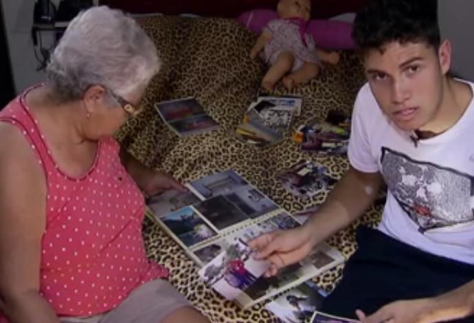 Thiago Braz com a avó que o criou  (Foto: reprodução)