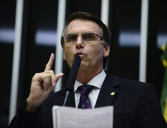 O deputado federal Jair Bolsonaro (Foto: Nilson Bastian/Câmara dos Deputados)
