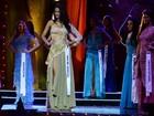 Veja imagens da nova Miss Universo RJ desfilando durante concurso de beleza