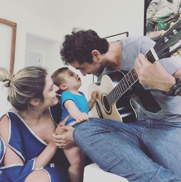 Rafa Brites, Rocco e Felipe Andreoli (Foto: Reprodução Instagram)