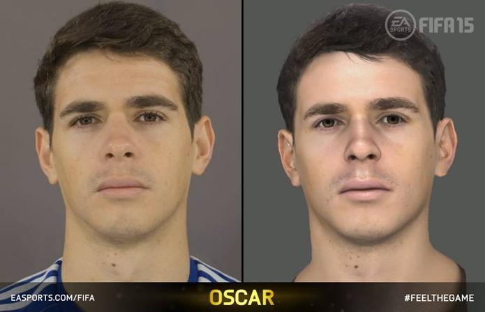 Oscar foi um dos mais de duzentos atletas a ganhar uma nova face no game (Foto: Divulgação)