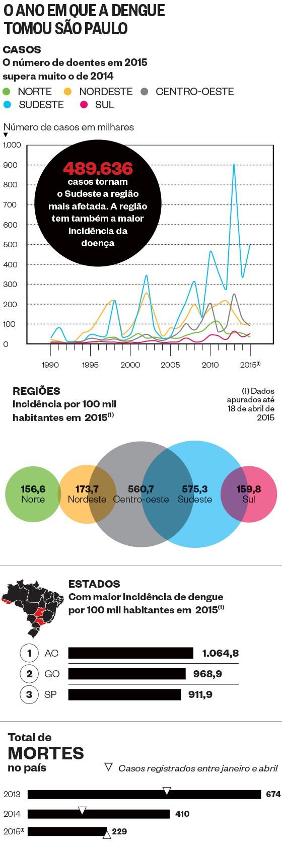 O ano em que a dengue tomou São Paulo - casos (Foto: Fonte: Ministério da Saúde)