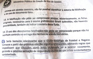 Botafogo documentos eleições Ministério Público (Foto: Gustavo Rotstein)