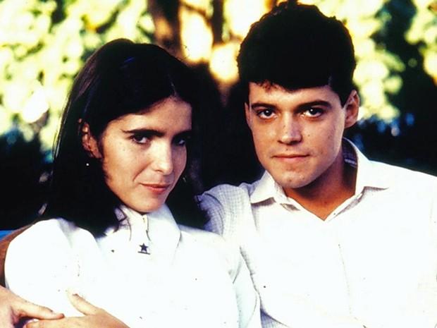 """Os atores em 1986, quando interpretaram Marcos e Lurdinha em """"Anos Dourados"""" (Foto: Cedoc/TV Globo)"""