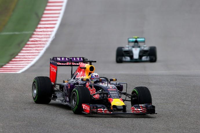 Daniel Ricciardo chegou a liderar o GP dos EUA (Foto: Getty Images)