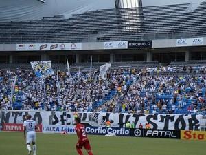 Estrutura temporária da Arena das Dunas comportará 11.744 torcedores na Copa (Foto: Augusto Gomes/GloboEsporte.com)