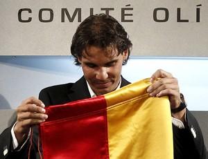 tênis Rafael Nadal bandeira espanha olimpíadas londres  2012 (Foto: Agência EFE)