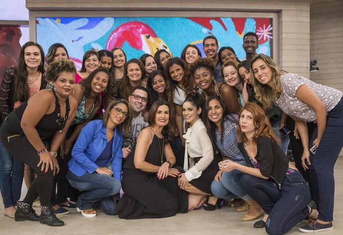 Fátima e Sabrina Petraglia com parte da plateia (Foto: Fábio Rocha/Gshow)