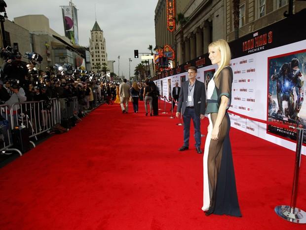 Gwyneth Paltrow em première de 'Homem de Ferro 3' em Los Angeles, nos Estados Unidos (Foto: Mario Anzuoni/ Reuters)