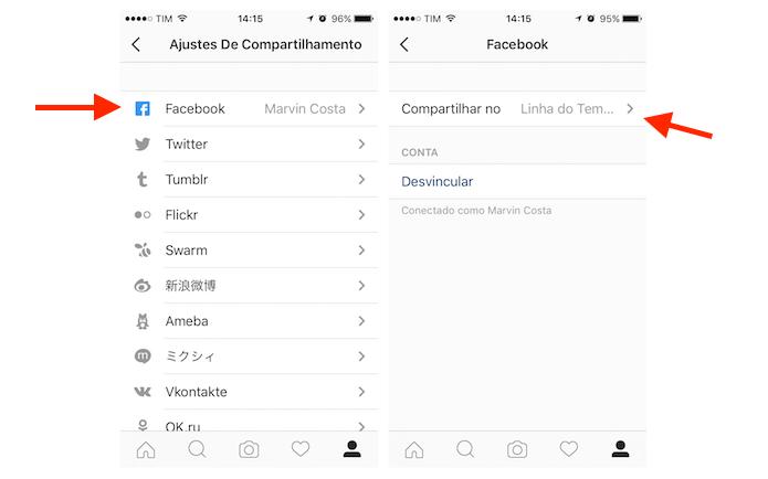 Acessando a página de compartilhamento do Instagram com o Facebook (Foto: Reprodução/Marvin Costa) (Foto: Acessando a página de compartilhamento do Instagram com o Facebook (Foto: Reprodução/Marvin Costa))