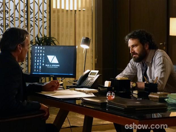 André fica chocada ao saber que Thomaz sabia sobre LC (Foto: Além do Horizonte/TV Globo)