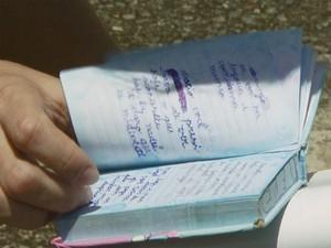 Cão 'guardou' diário que fala sobre a mudança da família, em Campinas (Foto: Reprodução / EPTV)