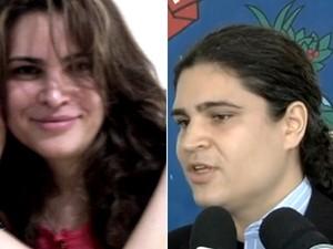 Delegado surpreendeu família ao mudar de sexo em Goiânia, Goiás (Foto: Arquivo pessoal e Reprodução TV Anhanguera)