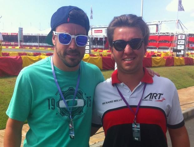 Fernando Alonso e Ruben Carrapatoso no Kart das Estrelas (Foto: Acervo pessoal)