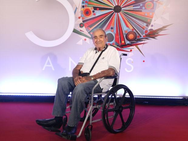 Elias Gleizer na comemoração dos 50 anos da Globo (Foto: TV Globo)