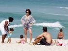 Giovanna Antonelli aproveita dia de sol em família no Rio
