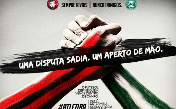 b5eace3f48 Atlético-PR e Coritiba se unem por paz no clássico e fortalecimento ...
