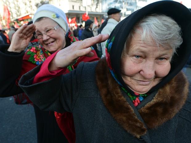 Idosas (Foto: Sergei Supinsky/AFP)