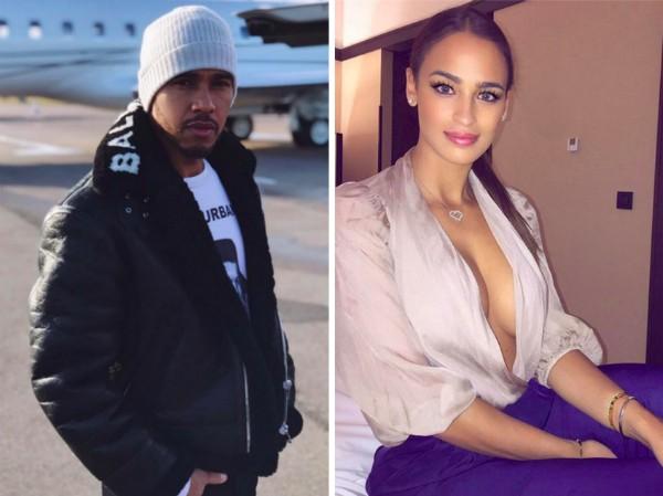 O piloto de Fórmula 1 Lewis Hamilton e sua ex-namorada Veronica Valle (Foto: Facebook/Instagram)