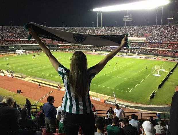 Natalia Oliveira no Morumbi, torcida Coritiba