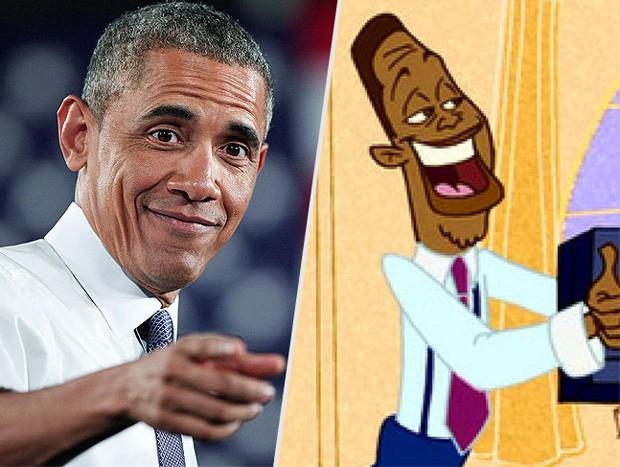 Barack Obama e Oscar Proud (Foto: Reprodução/People)