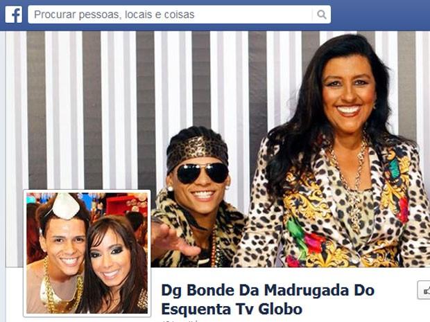 Página de DG no Facebook tem foto com a apresentadora Regina Casé e outra com a cantora Anitta (Foto: Reprodução / Facebook)
