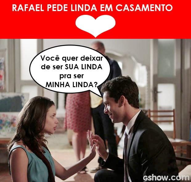 Rafael pede linda em casamento