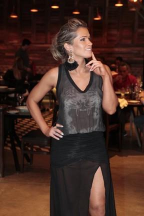 Fani Pacheco em estreia de TV no Rio (Foto: Isac Luz/EGO)