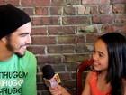 Caio Castro é entrevistado por apresentadora mirim