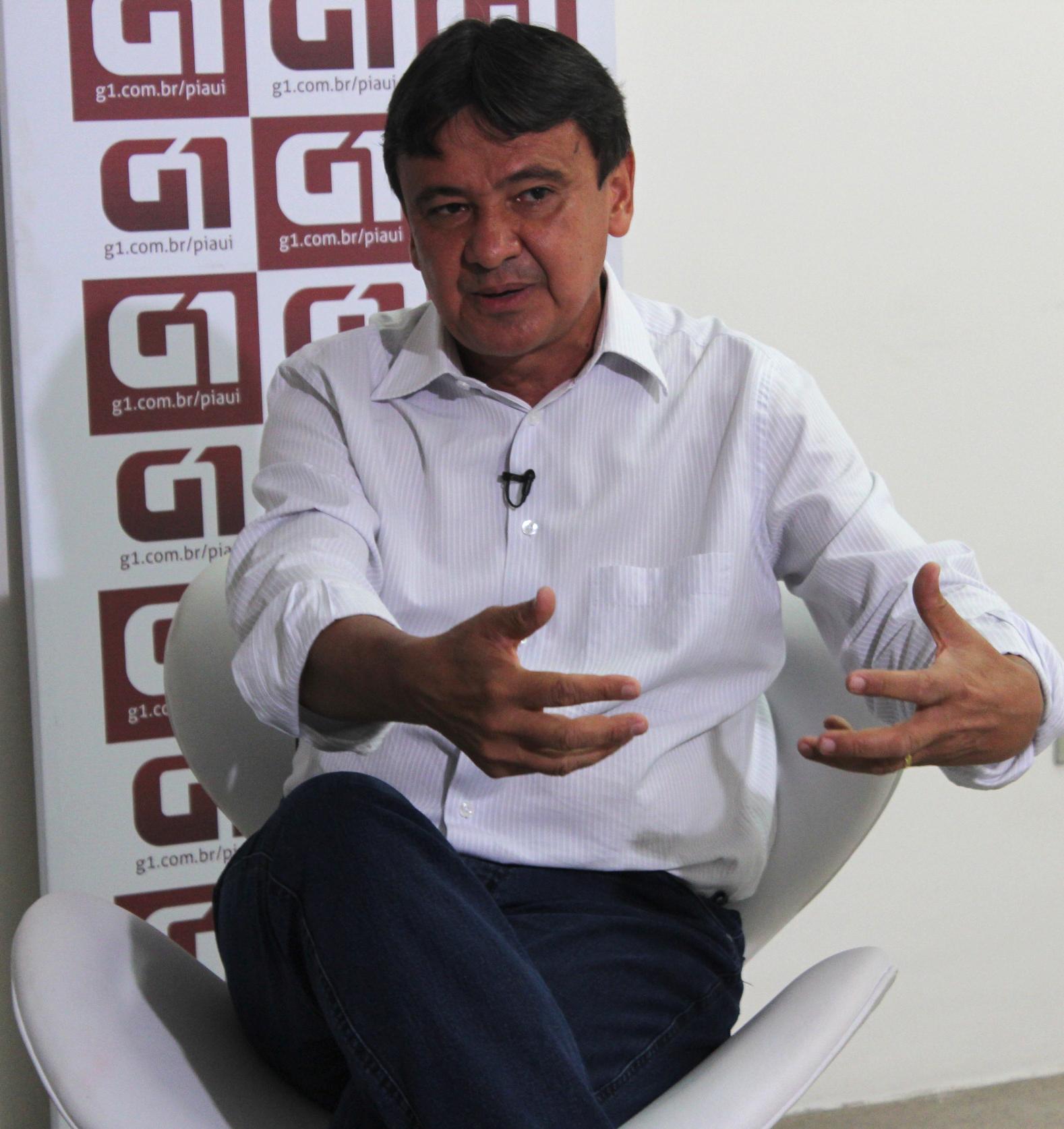 Wellington Dias fala sobre suas propostas para governador o Piauí (Foto: Gilcilene Araújo/ G1)