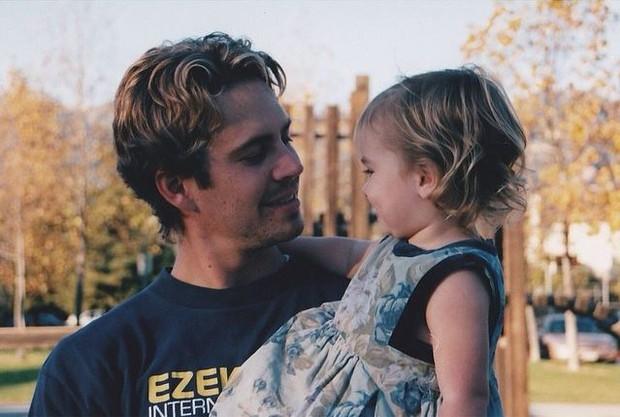 Meadow Walker posta foto com o pai, Paul Walker (Foto: Instagram / Reprodução)