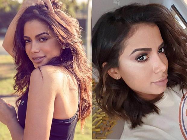 Anitta: antes e depois (Foto: Divulgação)