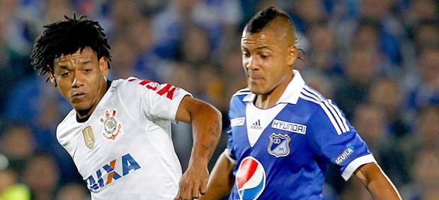 Romarinho jogo Corinthians Millonarios Libertadores (Foto: Reuters)