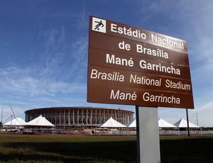 placa sinalização Copa - Brasília (Foto: Divulgação)