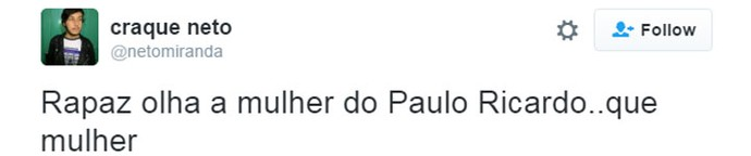 tweet paulo ricardo (Foto:  Reprodução/Internet)