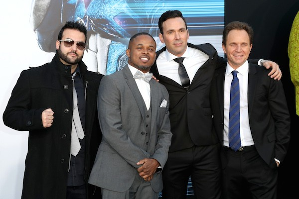 David Jason Frank e seus colegas do elenco original de 'Power Rangers' (Foto: Getty Images)