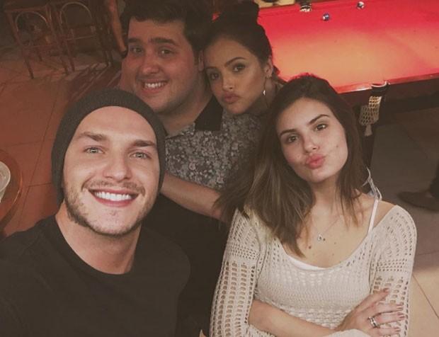 Camila Queiroz, Klebber Toledo, Agatha Moreira e Felipe Hintze (Foto: Reprodução)