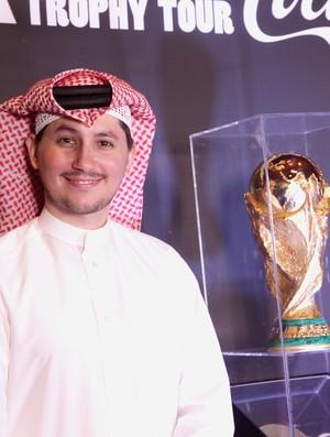 Tour da Taça - Khalifa Al Haroon, blogueiro do Catar (Foto: Pedro Veríssimo)